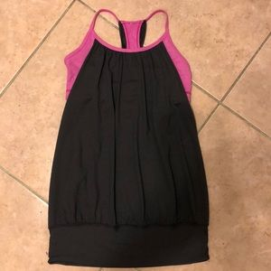 Lululemon no limits tank top/sports bra combo LN